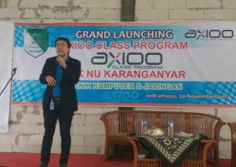 Launching Axioo dan Penandatanganan MoU di SMK Nu Karanganyar