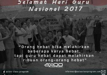Selamat Hari Guru Nasional 2017